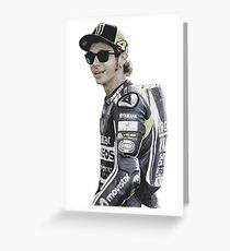 Valentino Rossi, moto gp Greeting Card