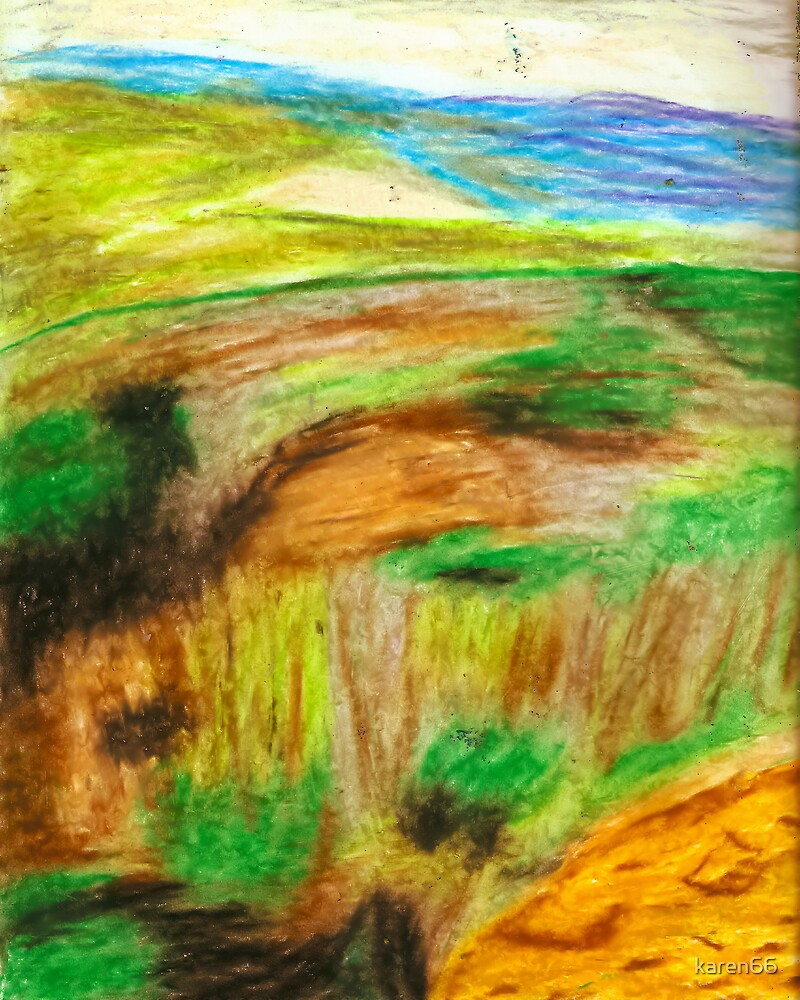 African Mountain Top Pastel by karen66