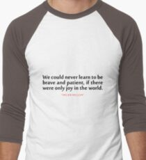 """We could never...""""Helen Keller"""" Inspirational Quote T-Shirt"""
