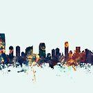 Jersey City New Jersey Skyline by Michael Tompsett