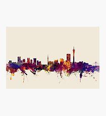 Johannesburg South Africa Skyline Photographic Print