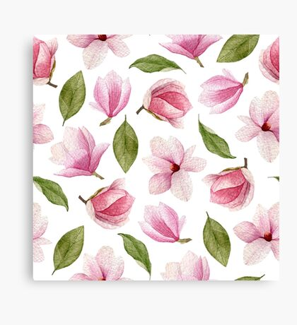 Blooming magnolia Canvas Print