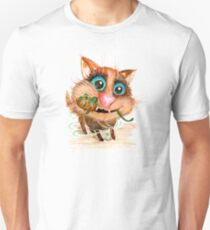 Funny cat with toy mouse. T-Shirt