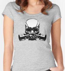 Subaru Skull Mask Women's Fitted Scoop T-Shirt