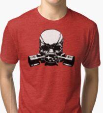 Subaru Skull Mask Tri-blend T-Shirt