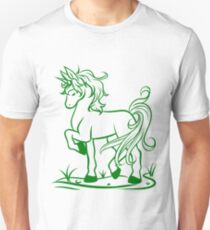 Minimal Unicorn Green T-Shirt