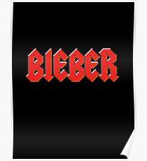 Justin Bieber - Metal Logo Poster