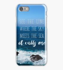 Where the sky meets the sea iPhone Case/Skin