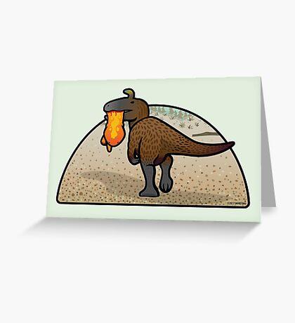 Cryolophosaurus Greeting Card