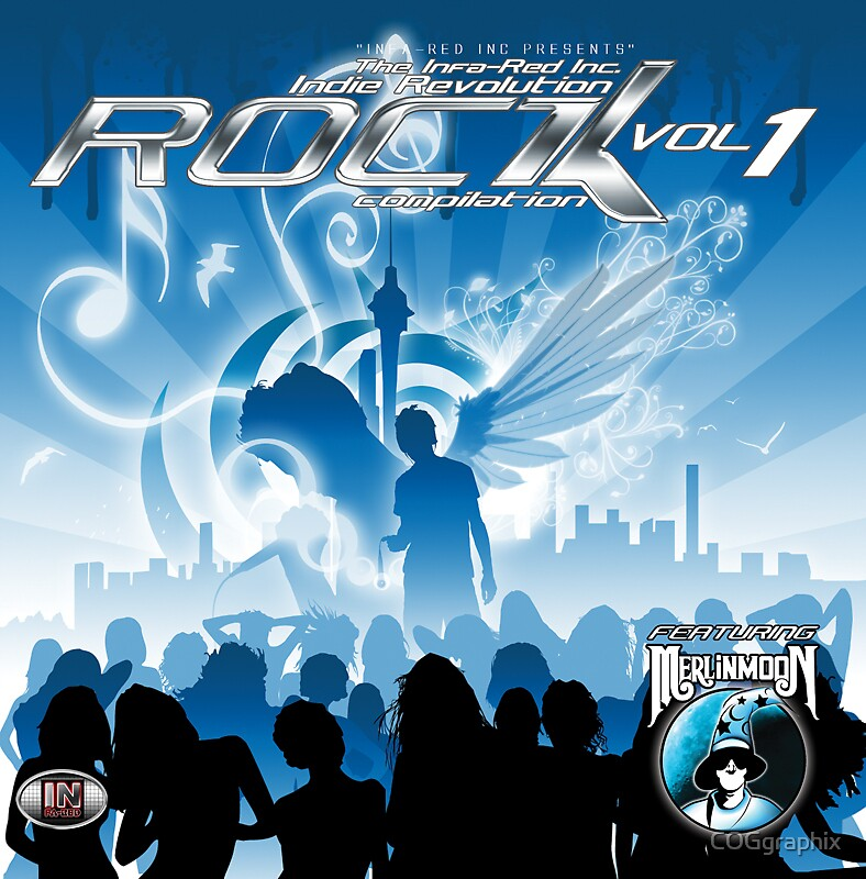 CD Cover Art - Infa Red Indie Revolution Rock Compilation Vol 1 by COGgraphix