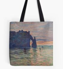 Claude Monet - Etretat, Sunset, 1883 Tote Bag