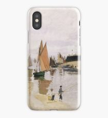Claude Monet - Entrance To The Port Of Trouville (1870) iPhone Case/Skin