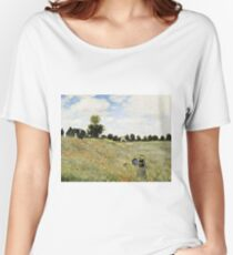 Claude Monet - Coquelicots, Environs Dargenteuil 1873 Women's Relaxed Fit T-Shirt