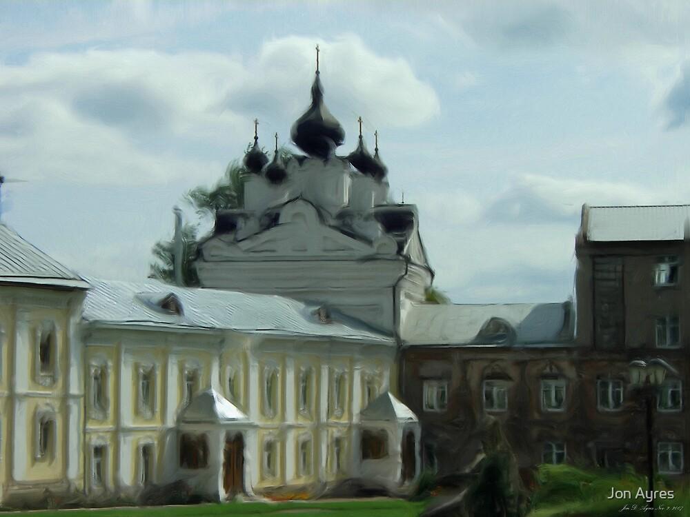 Church of Our Lady of Kazan  in Nikolo-Ugreshsky monastery by Jon Ayres