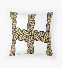 pigtail ornament Throw Pillow