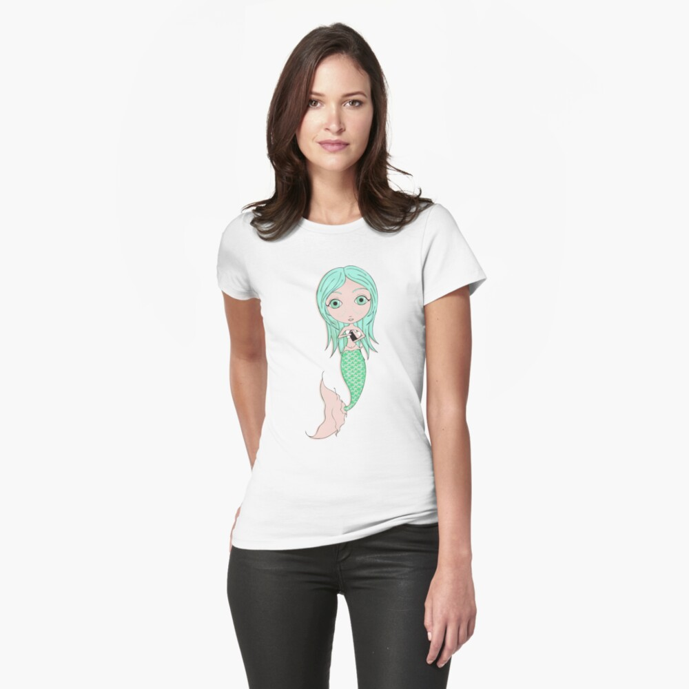 I Heart Mermaids - 3rd of 4 Fitted T-Shirt