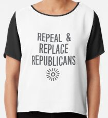 Repeal & Replace Republicans: Save the ACA, Midterms 2018 Chiffon Top