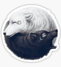 WOLF YIN YANG ART Sticker
