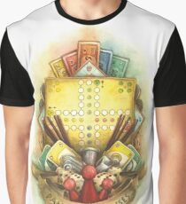 New School Board Game Crest Graphic T-Shirt