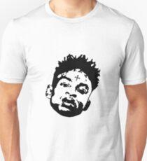 21 Savage face illustration clean T-Shirt