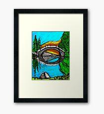 Bridge Reflection Marker #2 Colored Framed Print