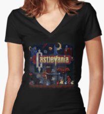 Vania Castle Women's Fitted V-Neck T-Shirt