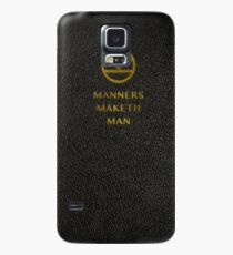 'Manners Maketh Man' Small - Kingsman  Case/Skin for Samsung Galaxy