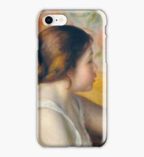 Auguste Renoir - Head Of A Young Woman, 1890 iPhone Case/Skin