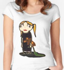 sad girl Women's Fitted Scoop T-Shirt
