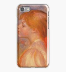 Auguste Renoir - Girl With A Red Hair Ribbon 1891 iPhone Case/Skin