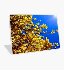 Yellow flowers blue sky Laptop Skin