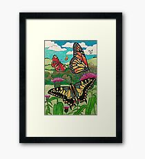 Ink Butterflies Framed Print