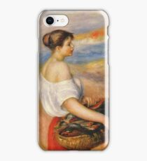 Auguste Renoir - Girl With A Basket Of Fish iPhone Case/Skin