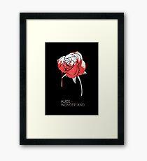 Minimalist Poster : Alice in Wonderland Framed Print