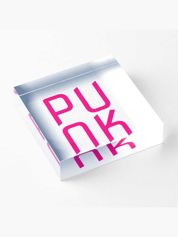 Alternate view of Hot Pink Punk Acrylic Block