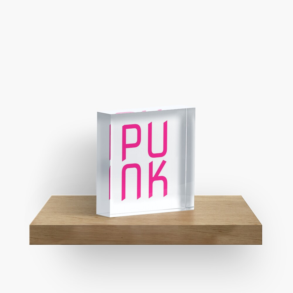 Hot Pink Punk Acrylic Block