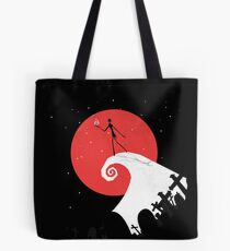 Minimalist Poster : Nightmare Before Christmas Tote Bag