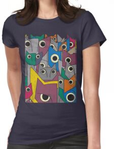 Catastrophe Grunge Mix Womens Fitted T-Shirt