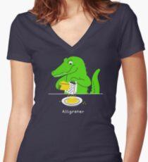 Alligrater Women's Fitted V-Neck T-Shirt