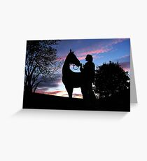 friends at the end of the day Greeting Card
