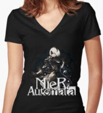 NieR Automata Best Design Women's Fitted V-Neck T-Shirt