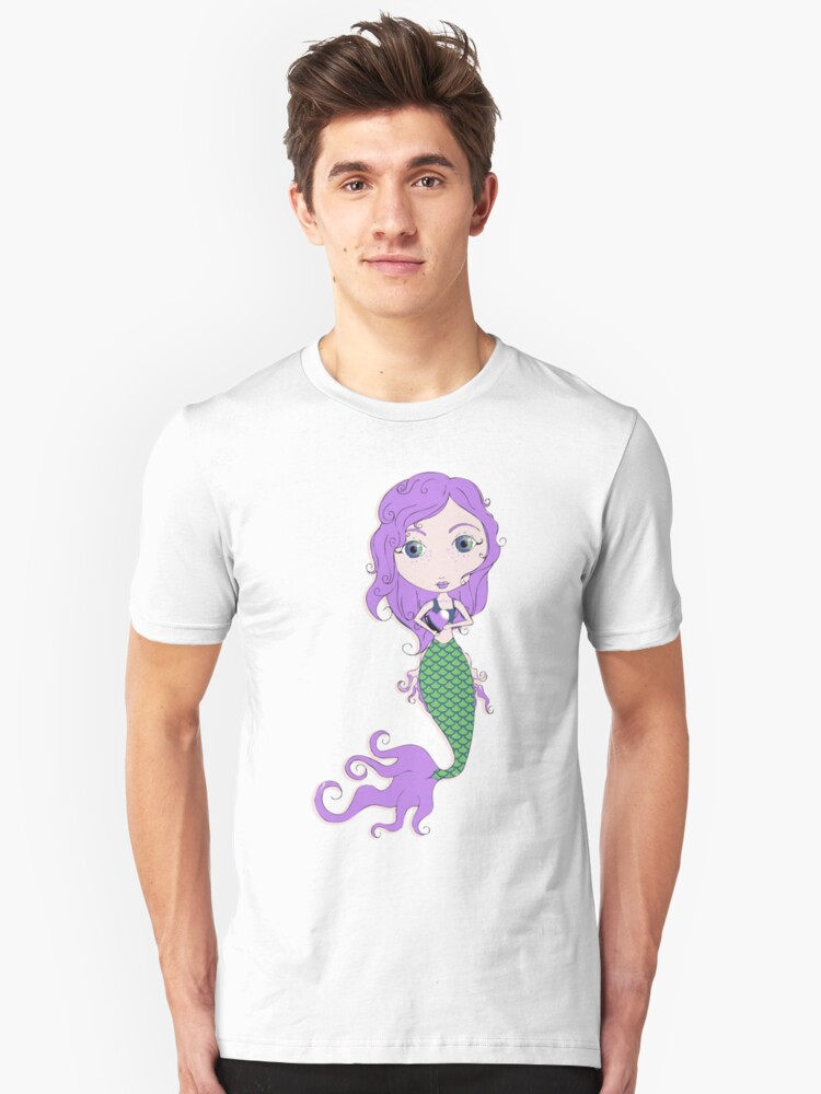 Alternate view of I Heart Mermaids - 2nd of 4 Slim Fit T-Shirt