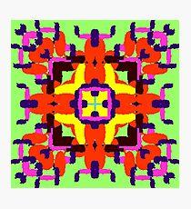 Key Lime Bug Flower Square Photographic Print
