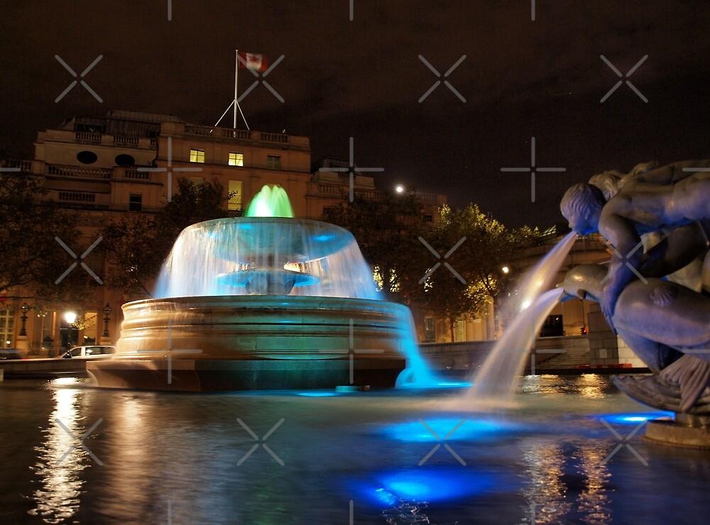 Trafalgar Square, London by Ludwig Wagner