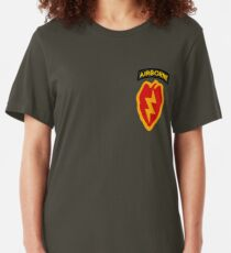 25th Infantry 4th BCT (Airborne) Slim Fit T-Shirt