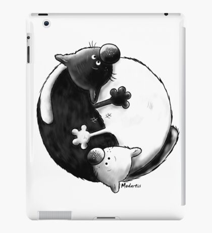 Yin and Yang Cats iPad Case/Skin