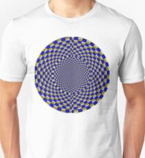 BLUE AND GOLD OPTICAL ILLUSION TUNNEL T-Shirt