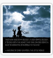 The LITTLE PRINCE and the fox - dream version - quote Sticker