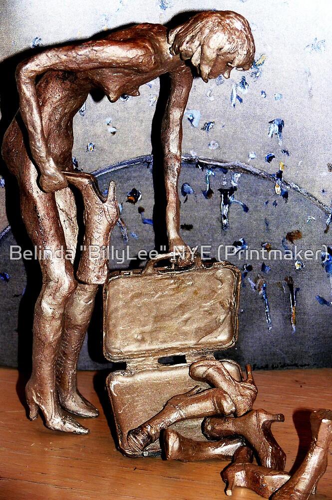 "BiPolar Barbi can't find her shoe! - BRONZE by Belinda ""BillyLee"" NYE (Printmaker)"