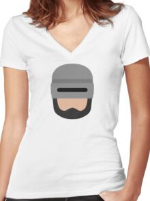 To Protect and Serve Women's Fitted V-Neck T-Shirt